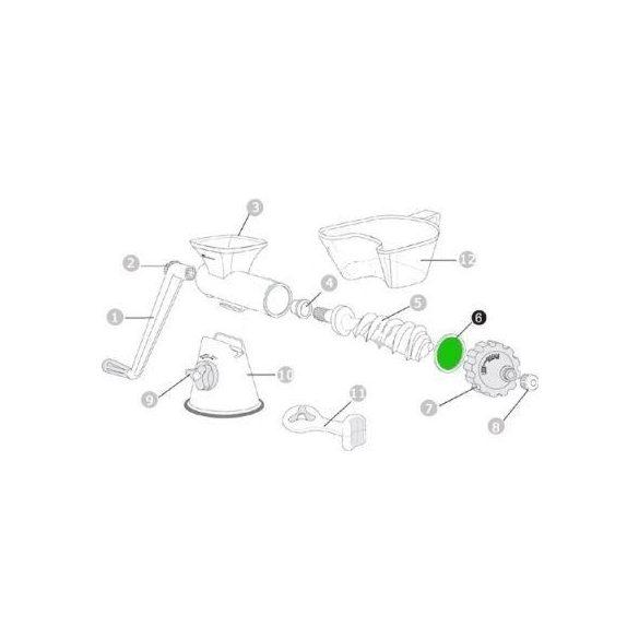 Szilikon tömítő gyűrű előre HJ kézi préshez (6)