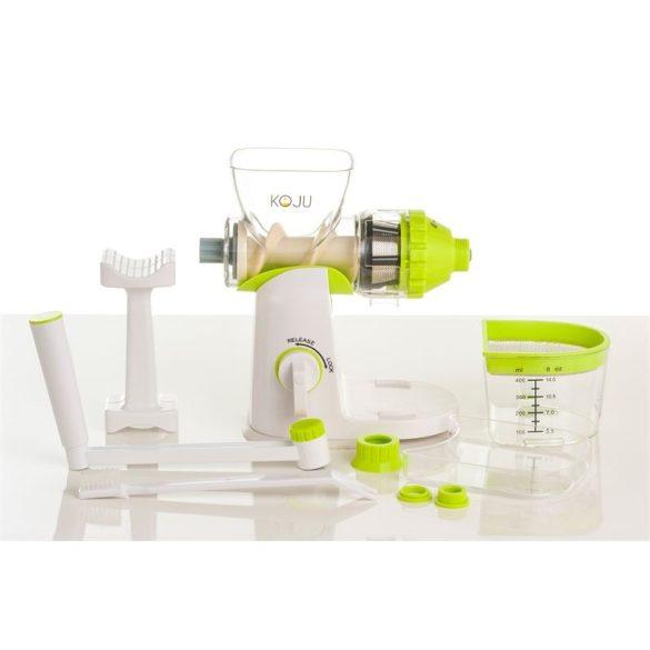 Koju Kézi BPA-mentes búzafű- és zöldségprés (zöld színű)