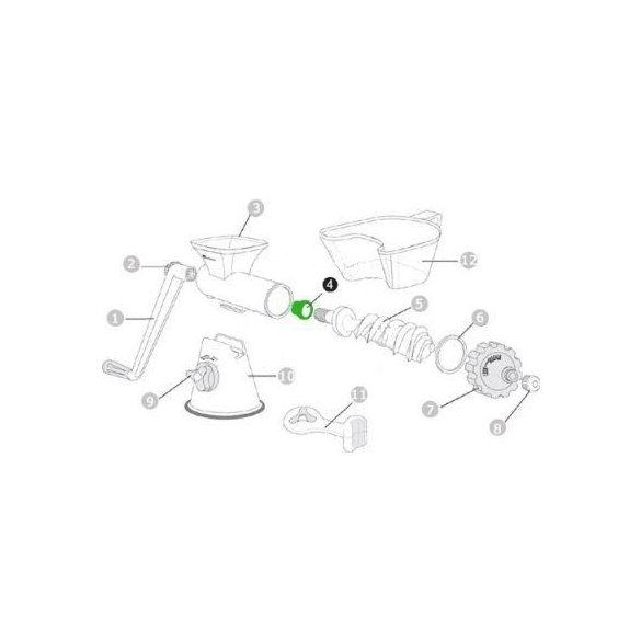 Műanyag szigetelő gyűrű hátra HJ Kézi Préshez (4)