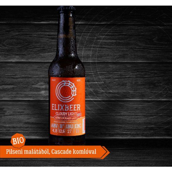 Bio Elixbeer Cloudy Light - Kézműves szűretlen láger sör 0,33l