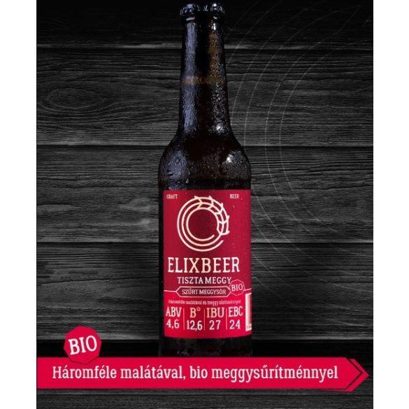Bio Elixbeer Tiszta Meggy - Kézműves szűrt meggysör 0,33l